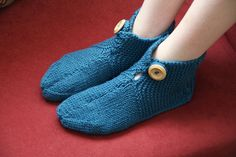 Easy Knitted Slipper Socks