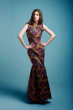 EIGHTEEN FOREVER : African Print Maxi Dress