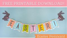 FREE Printable Easter Pennant - The Greenbacks Gal
