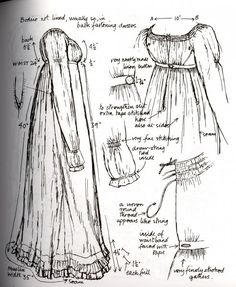 1806-1809 From Nancy Bradford's Costume in Detail