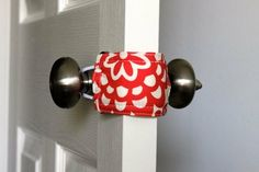 Open and close a baby's door without noise; keep a child from locking themself in the bathroom, etc.