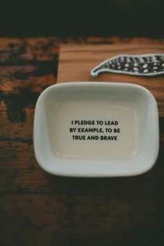 i pledge to lead by example, to be true and brave