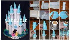 .. castle cake tutorial, castl tower, castl cake, cake decor, castle cakes