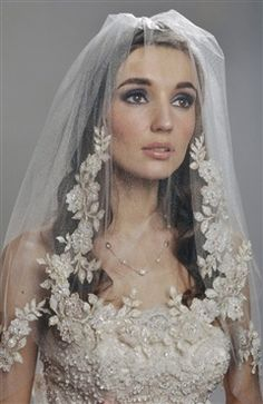 Two Tier Veil with Lace Embroidery. Style Code: 09150. ($49.99). Get it here: http://www.outerdress.com/two-tier-veil-with-lace-embroidery-pd-09150-0.html. #veil #wedding #weddingveil #outerdress