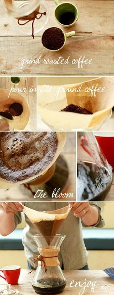 how to brew a chemex - by ben