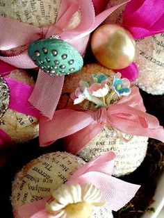 easteregg, vintage sheet music, easter crafts, paper mache, book pages