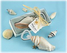 """""""Shore Memories"""" Sea Shell Bottle Opener with Thank you Tag"""