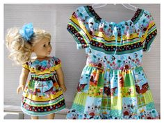 American Girl Ruffled Doll Dress with Matching by BonJeanCreations, $59.49