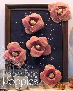 Kit's Crafts - Paper Bag Poppies #PaperFlowerTutorial