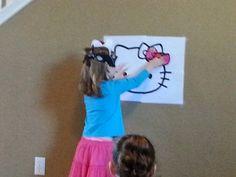 Hello Kitty Birthday Party - Pin the Bow on Hello Kitty Game