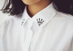diamond embroidery collar