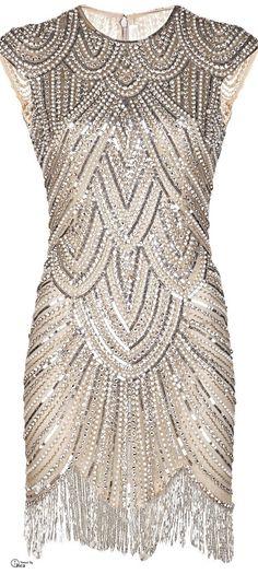 Vintage Bergdorf Goodman Bugle Beaded Cocktail Dress by Vigan, $215.00