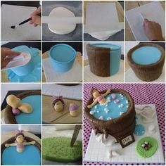 Hot tub cake-how to-Paso a paso tarta fondant | blogjaquescakes