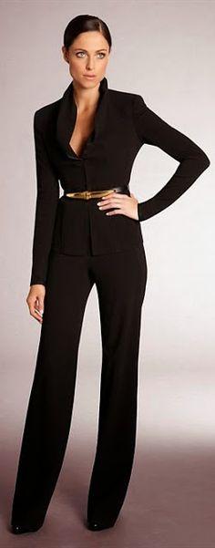 Women's Business Fashion Trend womens suits business, womens business suits, the office, black suit, black jumpsuit