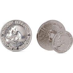 ALEXANDER MCQUEEN Skull coin cufflinks