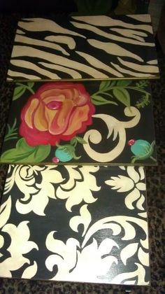 Hand Painted set of nesting tables