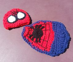 Spiderman Baby Crochet Photo Prop by LanilooBoutique on Etsy, $25.00