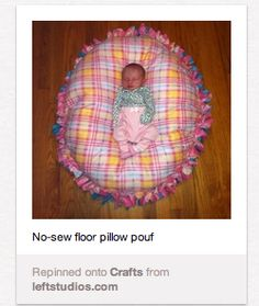 Living Pinterestingly: Project #11: No-Sew Floor Pillow