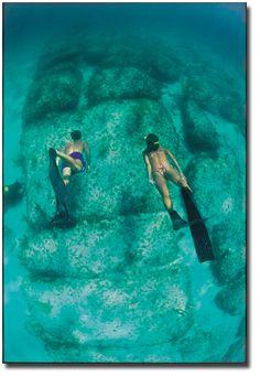 The Stones of a Lost City in North Bimini Bahamas