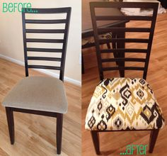 My new dining room chairs =) finally completed! Not bad for my first reupolstery project I'd say.