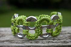 Pop Tab Crochet Bracelet