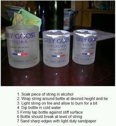 Liquor bottle glasses