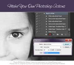 Learn how to make your own actions in Photoshop!  #photography tutorial via iHeartFaces.com