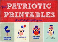 Free Patriotic {Printables}