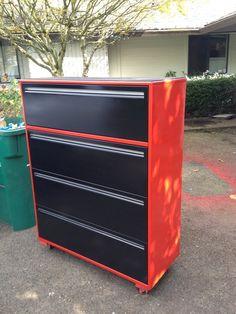 File Cabinet Garage Storage-great idea paint it beach colors