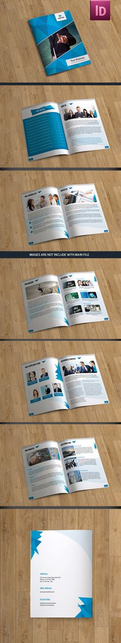 Brochure template-12 pages by sismic on Creative Market