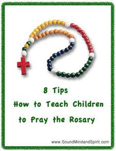 Teaching Kids How to Pray the Rosary