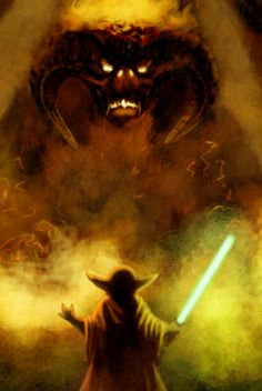 Star Wars/Lord of the Rings Mash Up 3.  A Balrog of Morgoth versus Yoda.  I totally want to see this go down.