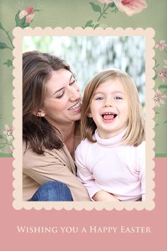 Free Easter photo card printable!