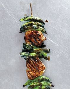 Pork and Snap Pea Kebabs with Ginger-Hoisin Glaze Recipe
