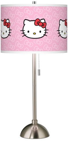 Hello Kitty Classic Brushed Steel Table Lamp | LampsPlus.com