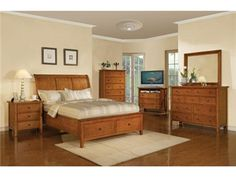 Shop for Winners Only Vintage Queen 2-Drawer Storage Bed, BV1001QS, and other Bedroom Beds at Woodley's Furniture in Colorado Springs, Fort Collins, Longmont, Lakewood, Centennial, Northglenn. Classic styling and clean lines in cherry veneer and hardwood in 3 hand-rubbed finishes. Standard footboard storage. All wood, French and English dovetail drawer construction with ball bearing drawer glides.