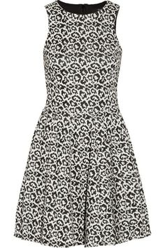 leopard-patterned knit dress / tibi