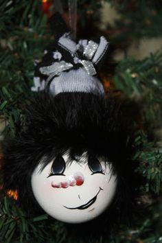 light bulb, snowman, ornament
