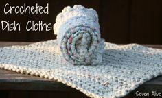 Crochet 101 Photo Tutorial & Crocheted Dishcloth Pattern - Seven Alive