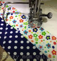 great idea on the walkiing foot guide bar {crazy mom quilts}