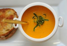 cream of tomato soup & grilled cheese