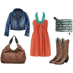Cowgirl goes to town! Cute spring outfit. Would look so cute on my granddaughter, Savannah!!- wadulifashions.com