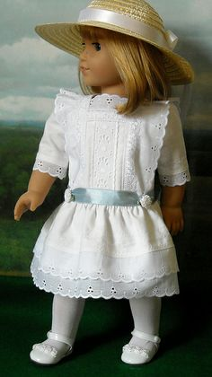 Nell in white 1 by Sugarloaf Doll Clothes, via Flickr