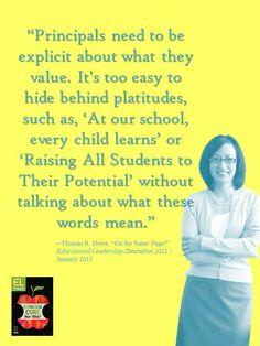 "Thomas R. Hoerr, ""On the Same Page?"" Educational Leadership, December 2012 / January 2013"