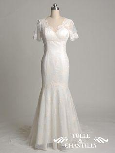 handmade vintage lace wedding dress 2014
