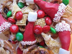 Christmas Chex mix using Bugles - yum! by queenvanna
