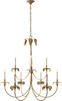 New Product: Darlana Large Chandelier by Visual Comfort & Co. | shown in Gilded Iron