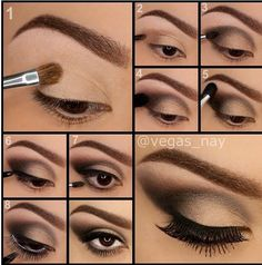I shall try this for a party makeup tutorials, almonds, cat eyes, bones, brows, eye makeup tips, brushes, beauti, eyeshadows