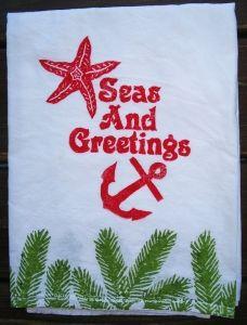 Holiday Seas & Greetings Kitchen Towel