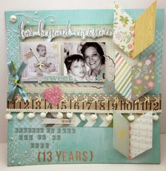 Love Beyond Measure by Gini Cagle - Scrapbook.com - Made with Simple Stories Hello Baby collection.